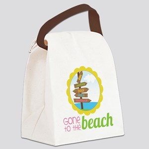 Gone To The Beach Canvas Lunch Bag