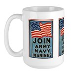 Join The Armed Forces Large Mug
