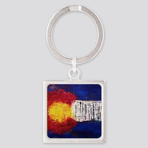 Colorado Flag Square Keychain