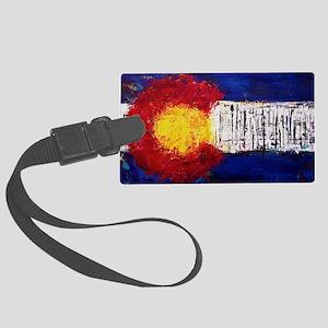Colorado Flag Large Luggage Tag