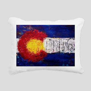 Colorado Flag Rectangular Canvas Pillow