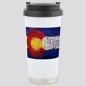 Colorado Flag Stainless Steel Travel Mug