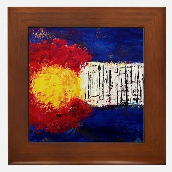 Colorado Flag Framed Tile