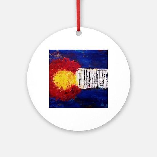 Colorado Flag Round Ornament