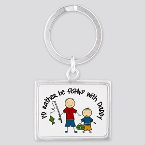 Rather Be Fishing Landscape Keychain