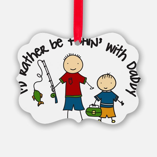Rather Be Fishing Ornament