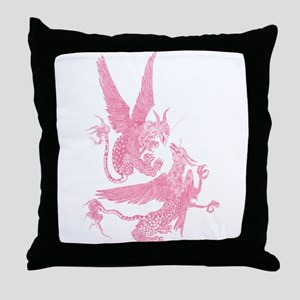 Wild Gryphons Rose Throw Pillow