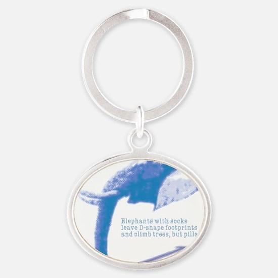 aqu_d-shape Oval Keychain