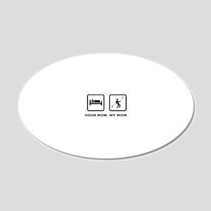 Yoyo-Player-ABN1 20x12 Oval Wall Decal