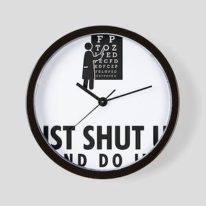 Optometrist-AAU1 Wall Clock