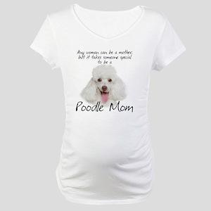 Poodle Mom Maternity T-Shirt