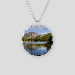 Bear Lake, Rocky Mountain Na Necklace Circle Charm