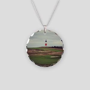 Sankaty Head  Necklace Circle Charm