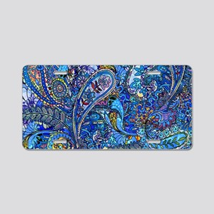 Extra Wild Paisley Aluminum License Plate