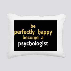 Be Happy Psychologist wa Rectangular Canvas Pillow