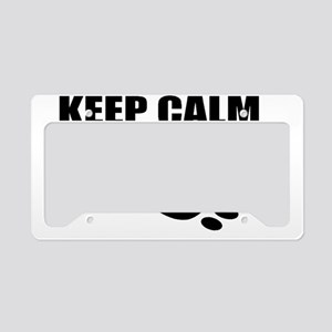 Keep Calm and Carry On On Lar License Plate Holder