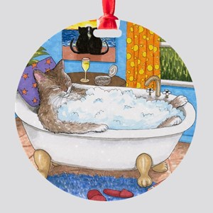 cat 567 Round Ornament