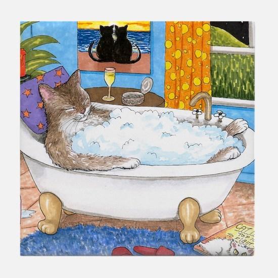 cat 567 Tile Coaster