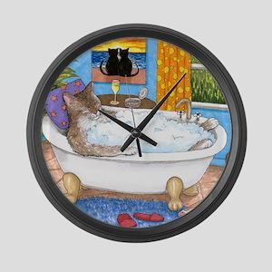 cat 567 Large Wall Clock
