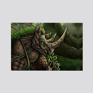 Earth Rhino Rectangle Magnet