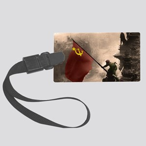 Russian Flag over the Reichstag  Large Luggage Tag