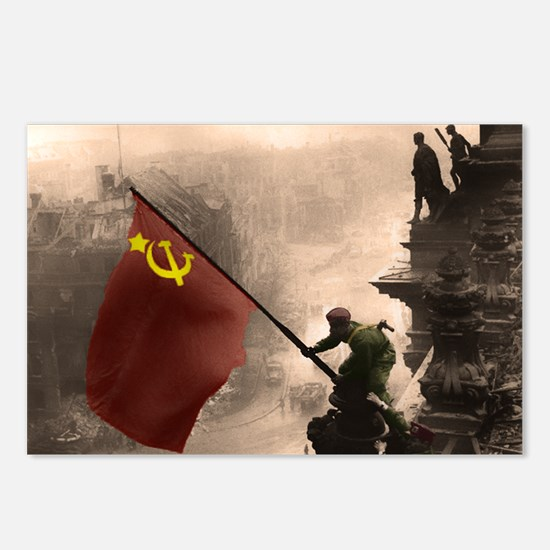Russian Flag over the Rei Postcards (Package of 8)