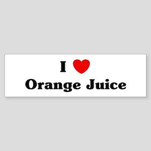 I love Orange Juice Bumper Sticker