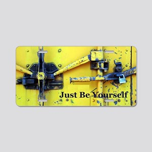 Just Be Yourself Aluminum License Plate