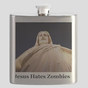 Jesus Hates Zombies Flask