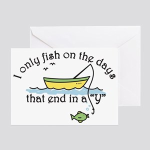 I Only Fish Greeting Card