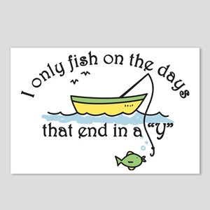 I Only Fish Postcards (Package of 8)