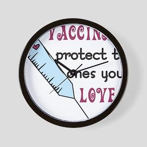 Vaccinate Wall Clock