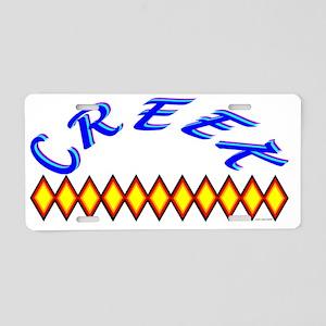 CREEK TRIBE Aluminum License Plate