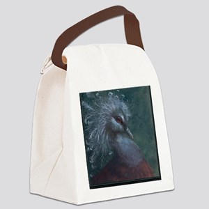 Victorian Crowned Pigeon Note Car Canvas Lunch Bag