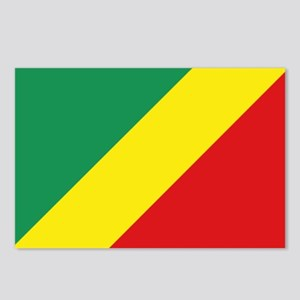 Congo-Brazzaville flag Postcards (Package of 8)