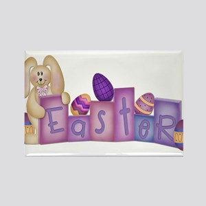 Cute Bunny - Easter Block's Rectangle Magnet