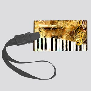 Musical Grunge Large Luggage Tag