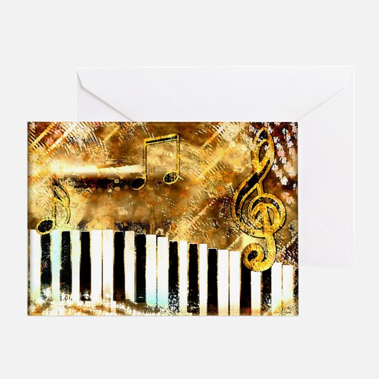 Musical Grunge Greeting Card