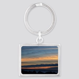 Columbia River Sunset Landscape Keychain