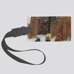 2Cal_Jan_Lute_Guitar_Old_World_A Large Luggage Tag