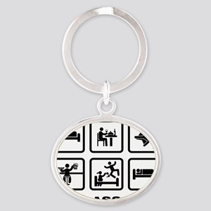 Skydiving-AAZ1 Oval Keychain