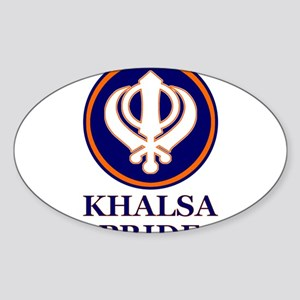 Khalsa Pride Oval Sticker