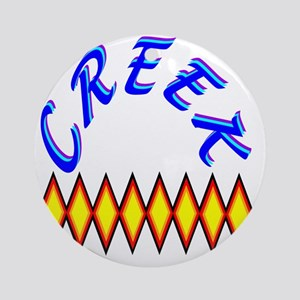CREEK TRIBE Round Ornament
