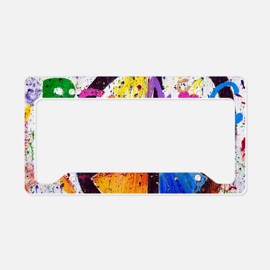 Love and Peace and Children License Plate Holder