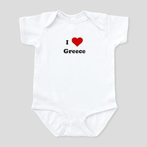 I Love Greece Infant Bodysuit