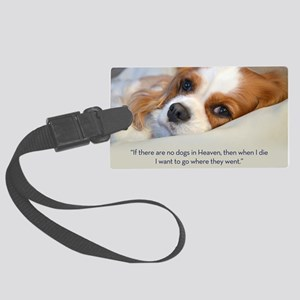 Cavalier King Charles Spaniel in Large Luggage Tag