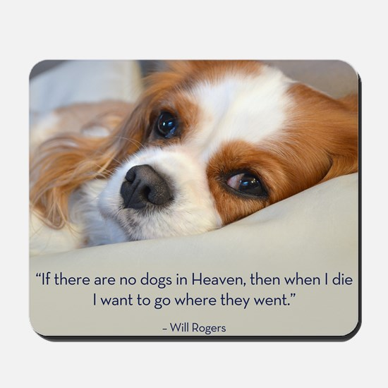 Cavalier King Charles Spaniel in Heaven Mousepad