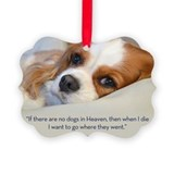 Cavalier king charles spaniel Picture Frame Ornaments