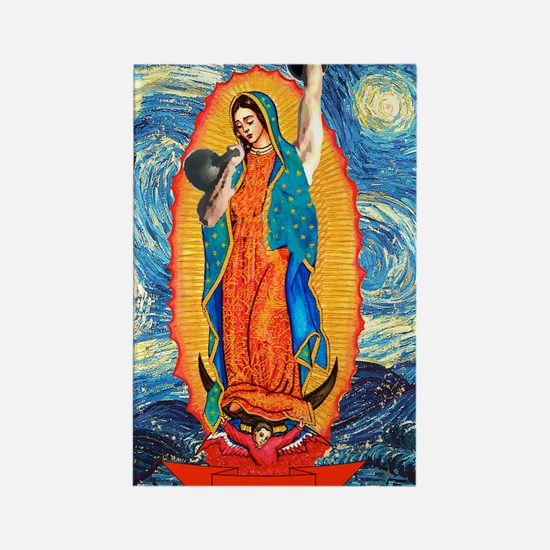 CrossFit Lady of Guadalupe Rectangle Magnet
