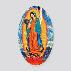 CrossFit Lady of Guadalupe Oval Car Magnet